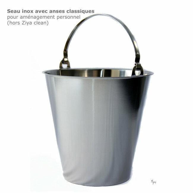maison jardin toilettes s ches ziya seau inox 15l etre nature. Black Bedroom Furniture Sets. Home Design Ideas